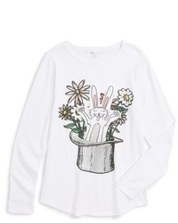 Stella McCartney Girls Kids Barley Rabbit Long Sleeve Graphic T Shirt