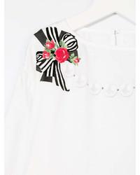 Monnalisa Chic Bow Print Long Sleeve T Shirt