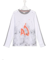 Armani Junior Spray Paint Print T Shirt