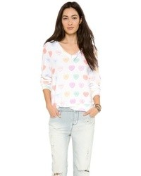 Wildfox Couture Wildfox Sweet Heart Baggy Beach Jumper