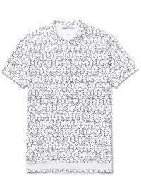 White Print Polo