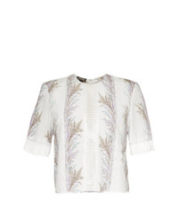 Giambattista Valli Embroidered Panelled Blouse