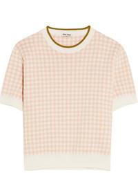 Intarsia cotton sweater blush medium 1251880