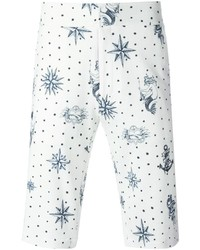 Alexander McQueen Tattoo Print Chino Shorts