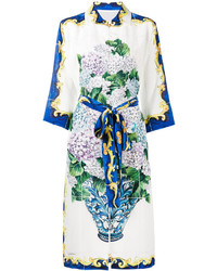 Dolce & Gabbana Bouquet Print Button Up Dress