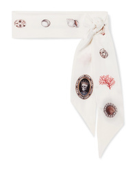 Alexander McQueen Lost At Sea Printed Silk Chiffon Scarf
