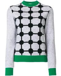 Grid intarsia jumper medium 5263841