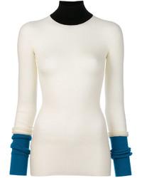 Ribbed colour block sweater medium 3994497