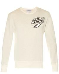 Alexander McQueen Tiger Skull Print Jersey Sweatshirt