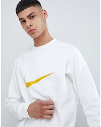 Nike SB Icon Sweatshirt In White 886092 101