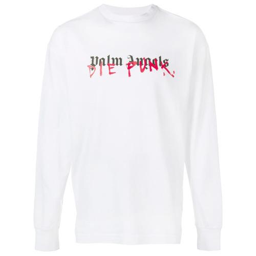 2b0ab9adcd0 Men s Fashion › Sweaters › Sweatshirts › farfetch.com › Palm Angels › White  Print Sweatshirts Palm Angels X Playboi Carti Sweatshirt ...
