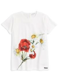 Dolce & Gabbana Dolcegabbana Floral Print Tee