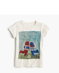 J.Crew Girls Christopher David Ryan For Crewcuts Eiffel Tower Hug T Shirt