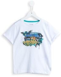 Armani Junior Graffiti Print T Shirt