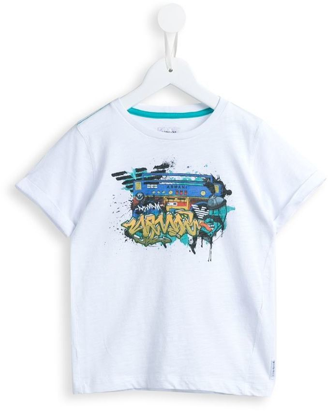 Armani Junior Graffiti Print T Shirt