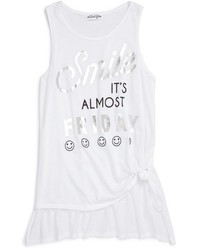 Ten Sixty Sherman Girls Smile Its Almost Friday Graphic Highlow Tank