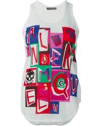 Alexander McQueen Abstract Logo Print Tank Top