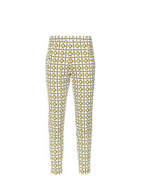 Andrea Marques Tile Print Skinny Trousers Unavailable