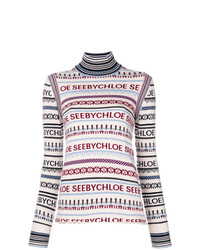 See by Chloe See By Chlo Striped Knit Sweater