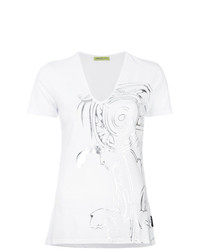 Versace Jeans Metallic Patterned T Shirt