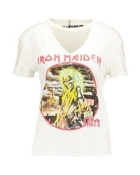 Only Onlrock Choker Print T Shirt Bright White