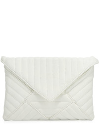 White Quilted Leather Clutch