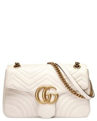 White Quilted Leather Satchel Bag