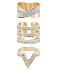 Aldo Holveck 3 Pack Ring White