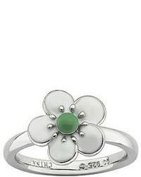 jcpenney Fine Jewelry Personally Stackable Sterling Silver White Enamel Hawthorn Ring