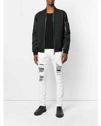 Philipp Plein Distressed Panel Slim Fit Jeans
