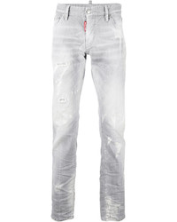 DSQUARED2 Distressed Straight Jeans