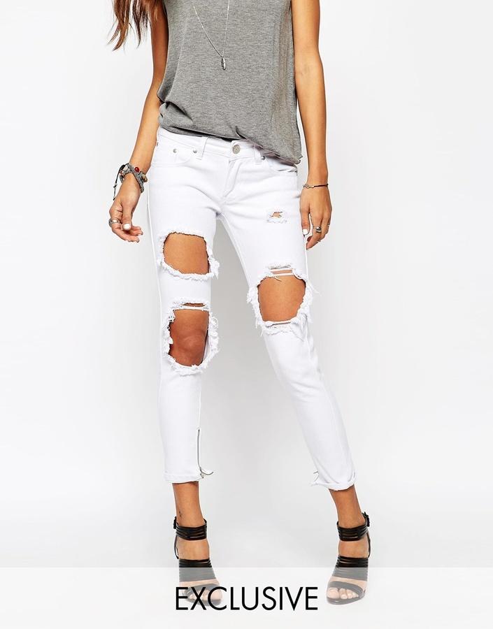 Asos Liquor N Poker Liquor Poker Skinny Jeans With Extreme ...