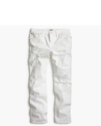 Vintage crop jean in destroyed white medium 1252845