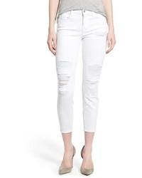 J Brand Destroyed Skinny Capri Jeans