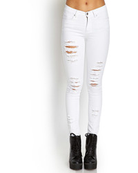 White Ripped Skinny Jeans - Xtellar Jeans