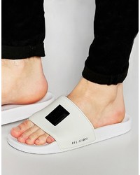 White Rubber Sandals