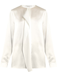 Stella McCartney Goldie Ruffled Silk Satin Blouse