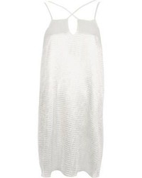 White Satin Cami Dress