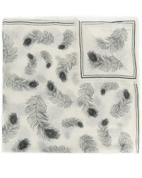 Alexander McQueen Feather Print Scarf