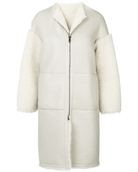 Zipped long shearling coat medium 5206710