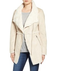 Asymmetrical faux shearling jacket medium 1249033