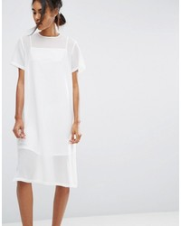 Asos Midi Sheer Shift Dress