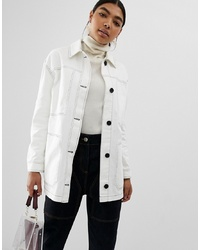 ASOS DESIGN Contrast Stitch Cotton Jacket
