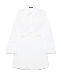 Ellery Convertible Cotton Poplin Shirt Dress