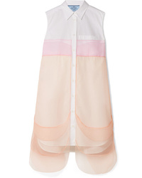 Prada Ed Cotton Poplin Mini Dress