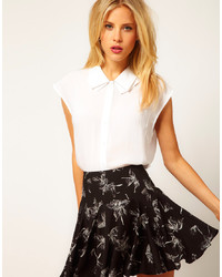 Asos Blouse With Folded Collar