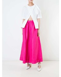 DELPOZO Knot Crossed Blouse