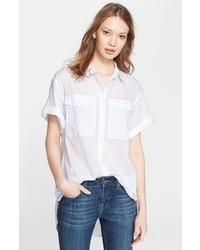 Burberry Brit Roll Sleeve Cotton Shirt