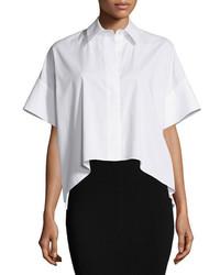Alice + Olivia Edyth High Low Short Sleeve Shirt