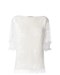 Ermanno Scervino Lace Sleeves Jumper